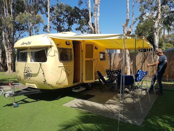 Vintage Caravan glamping for Splendour SITG 2021