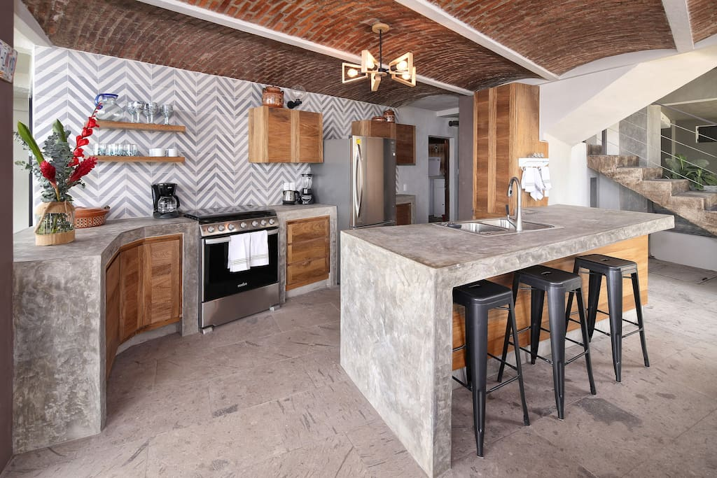 Modern functional kitchen has everything you need to feel at home....