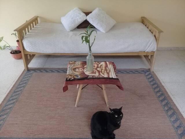 Cómoda cama en departamento de Carla, Reina y Fer