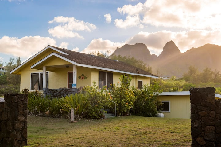 Hibiscus Beach Cottage, Steps to Anahola Bay, TVNC#5067