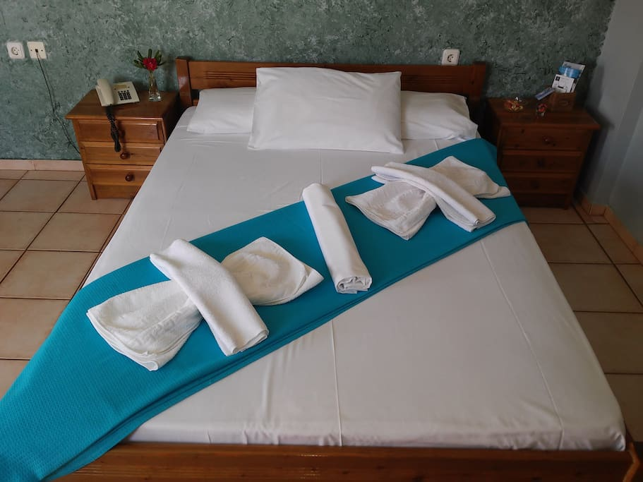 Double bed waiting for you!