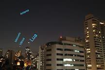Aqui também vemos os astros!!! Foto tirada por um hospede querido!!