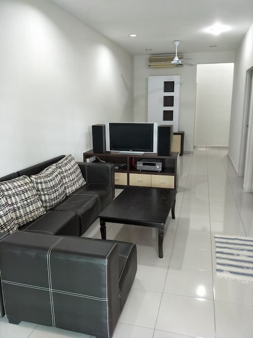 Living room with TV and audio visual amenities