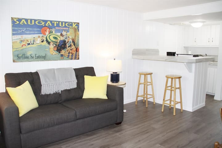 At Ease: Updated Downtown Saugatuck Apartment with Balcony