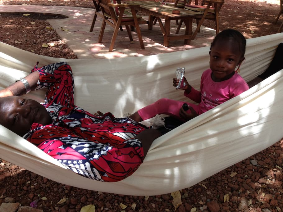relaxen in de binnentuin