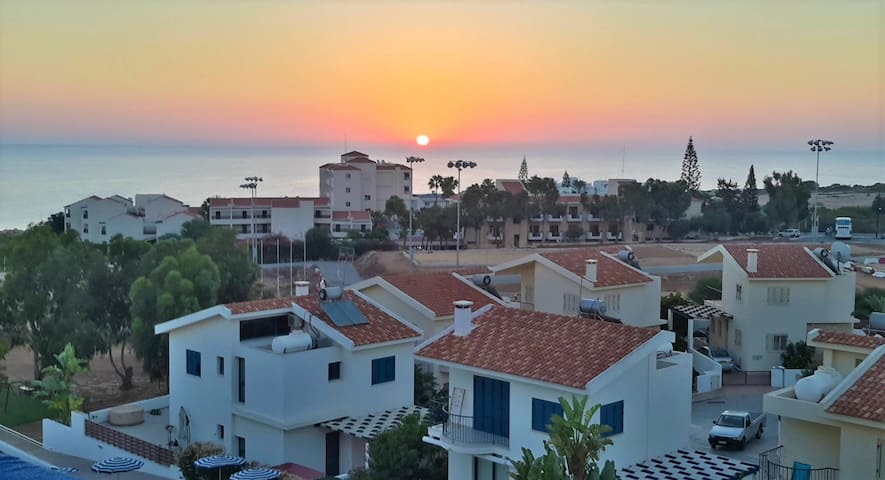 Two story villa near the beach in Protaras-Cyprus