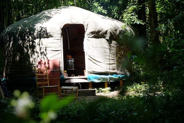 Off-grid yurt