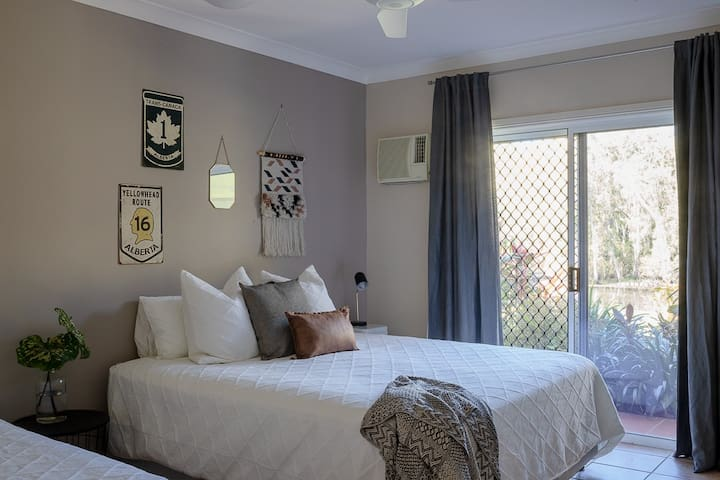 King single, king bed and private entrance