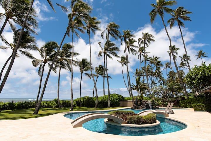 5BR Luxury Kahala Beachfront, 2 Pools, Spa, Tennis