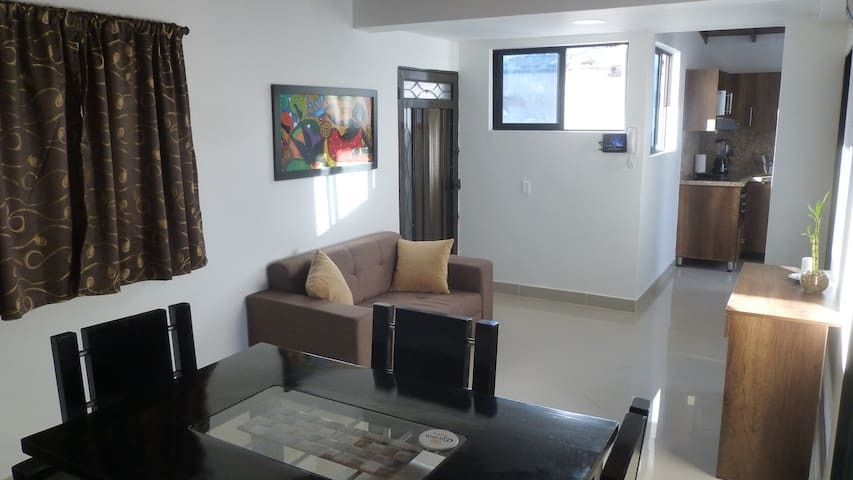 Modern and spacious  2 bed apt with great view