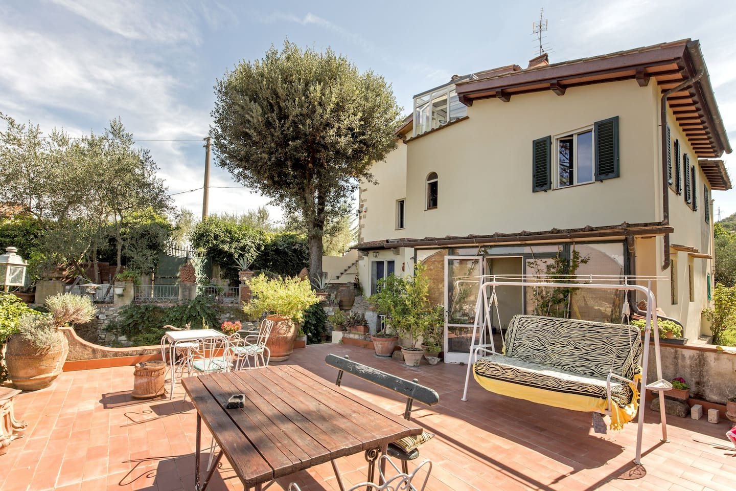 The apartmente and the terrace