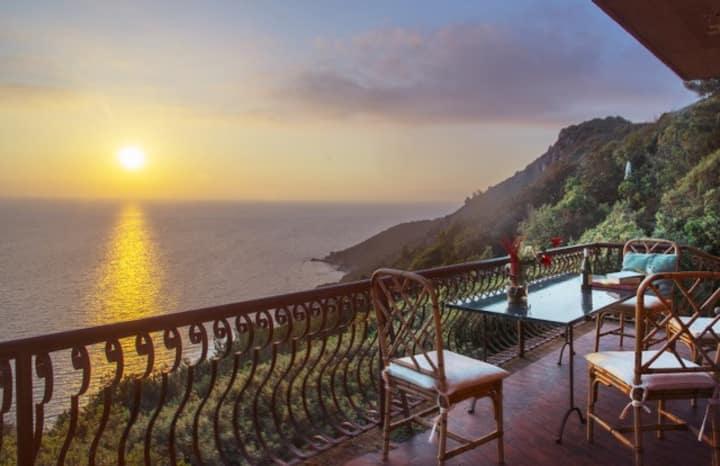 Sunset Villa on the cliff