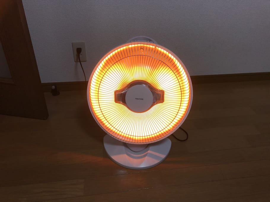 I prepared new electric heater in living room. Very warm!!