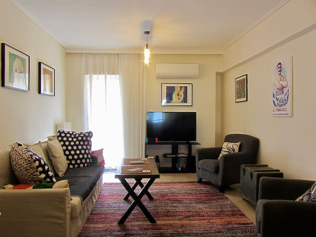 *** Fully Equipped Big House near metro in Athens!