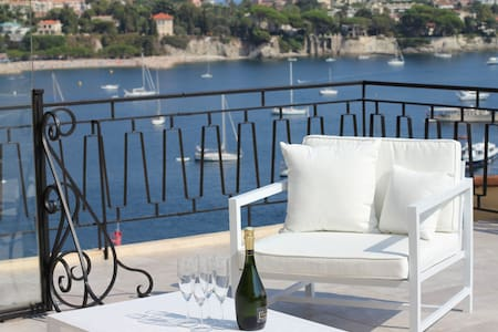 "NEW ""LA TERRASSE"" PANORAMIC VIEW & LUXURY COMFORT - Villefranche-sur-Mer - Apartment"