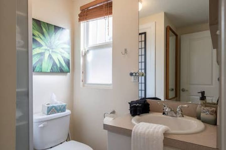 1/2 bath in  second bedroom