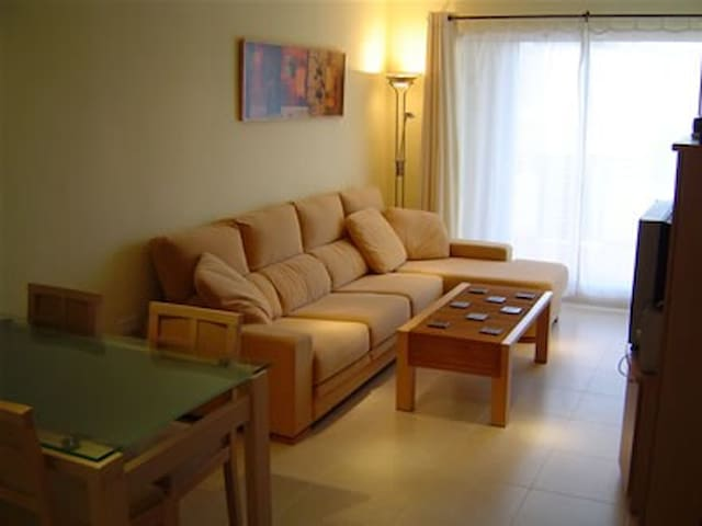 The living room with pull out sofa bed