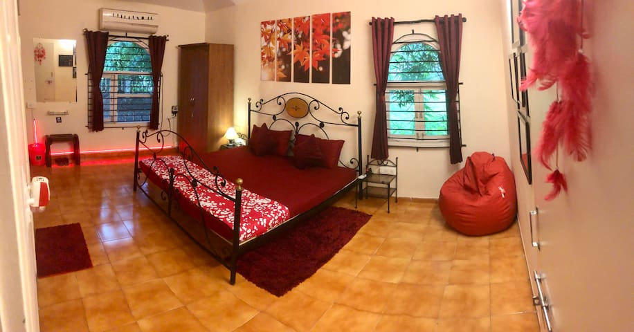 Bedroom 2 - Panoramic view, ample space for extra beds
