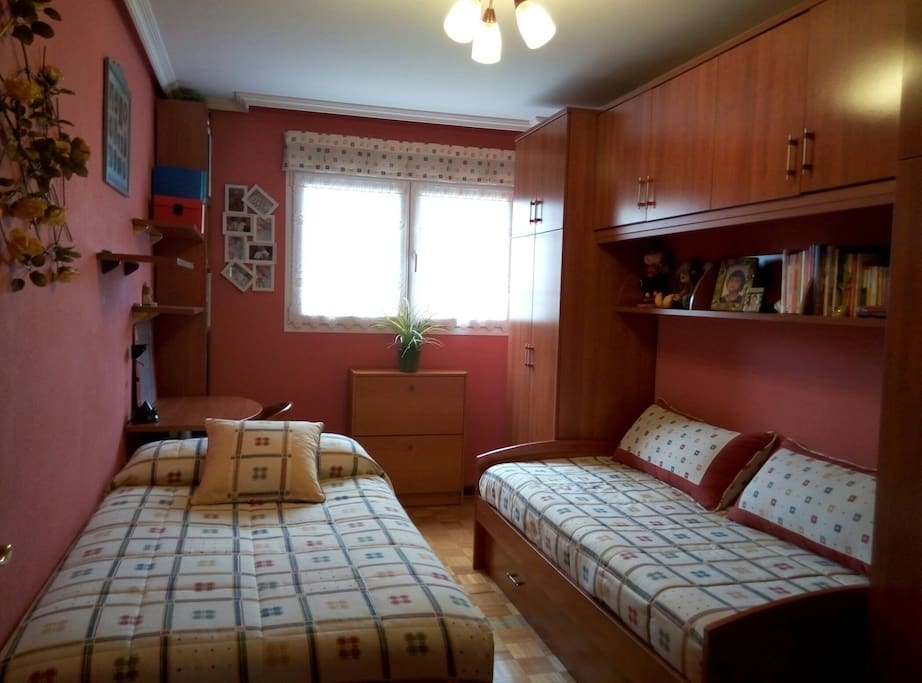 habitación privada de 2 camas.