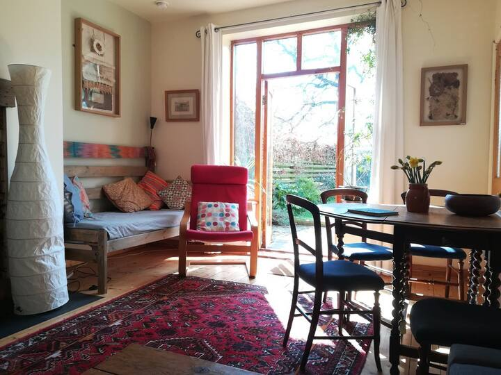 Artisan apartment in creative community.