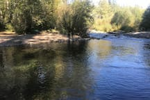 The view from our side of the Salmon River.