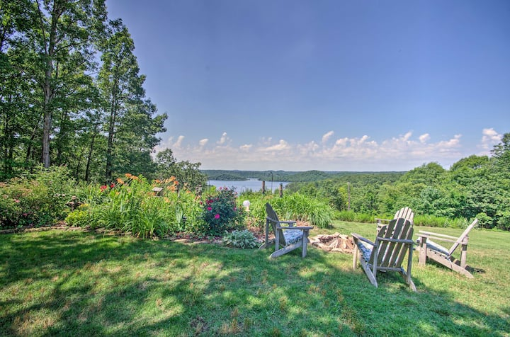 Mountain Home Apt w/ Fire Pit & Norfork Lake Views