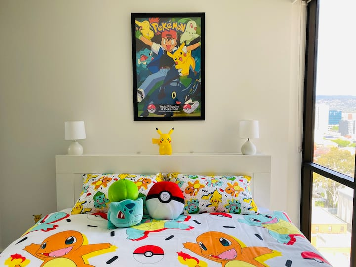 ★Pokémon Inspired★King Beds★Balcony★Pool★Gym★BBQ★