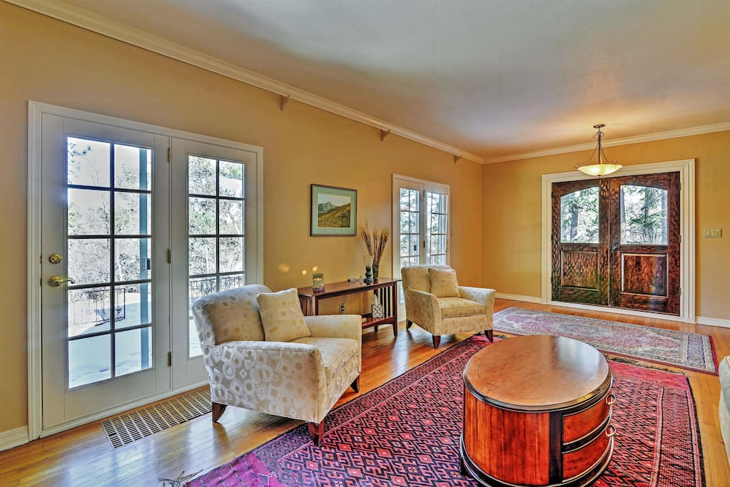 You'll feel right at home inside the dwelling's elegantly appointed interior