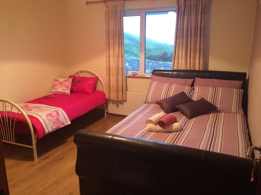 Family room sleeps 3, Double bed and single bed