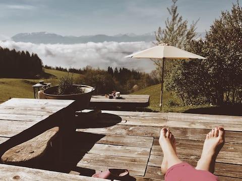 stille alpehus i Kärnten - afslapning på bjerget