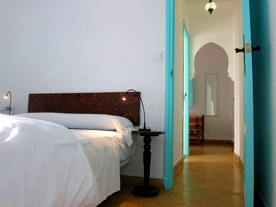 Bedroom and hallway