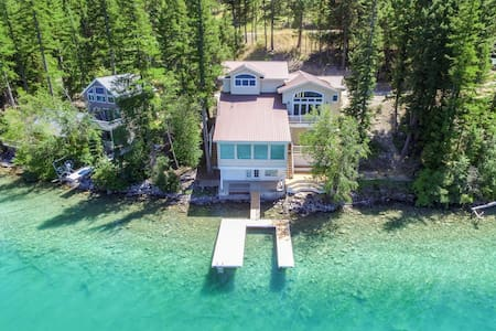 beautiful home right on Ashley lake