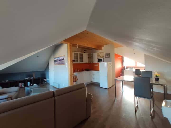 Cosy attic appartment in family house
