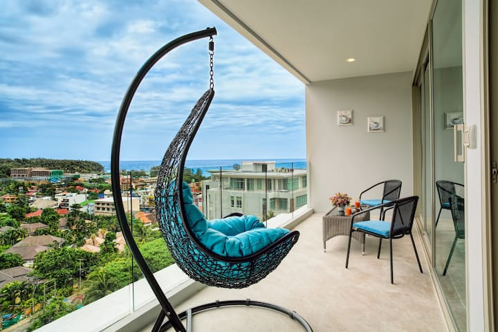 Stunning Seaview 80 sqm Apartment@Karon beach-800m