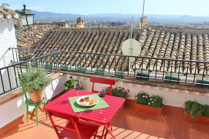 Central+ near the Alhambra, terrace - Granada - Wohnung