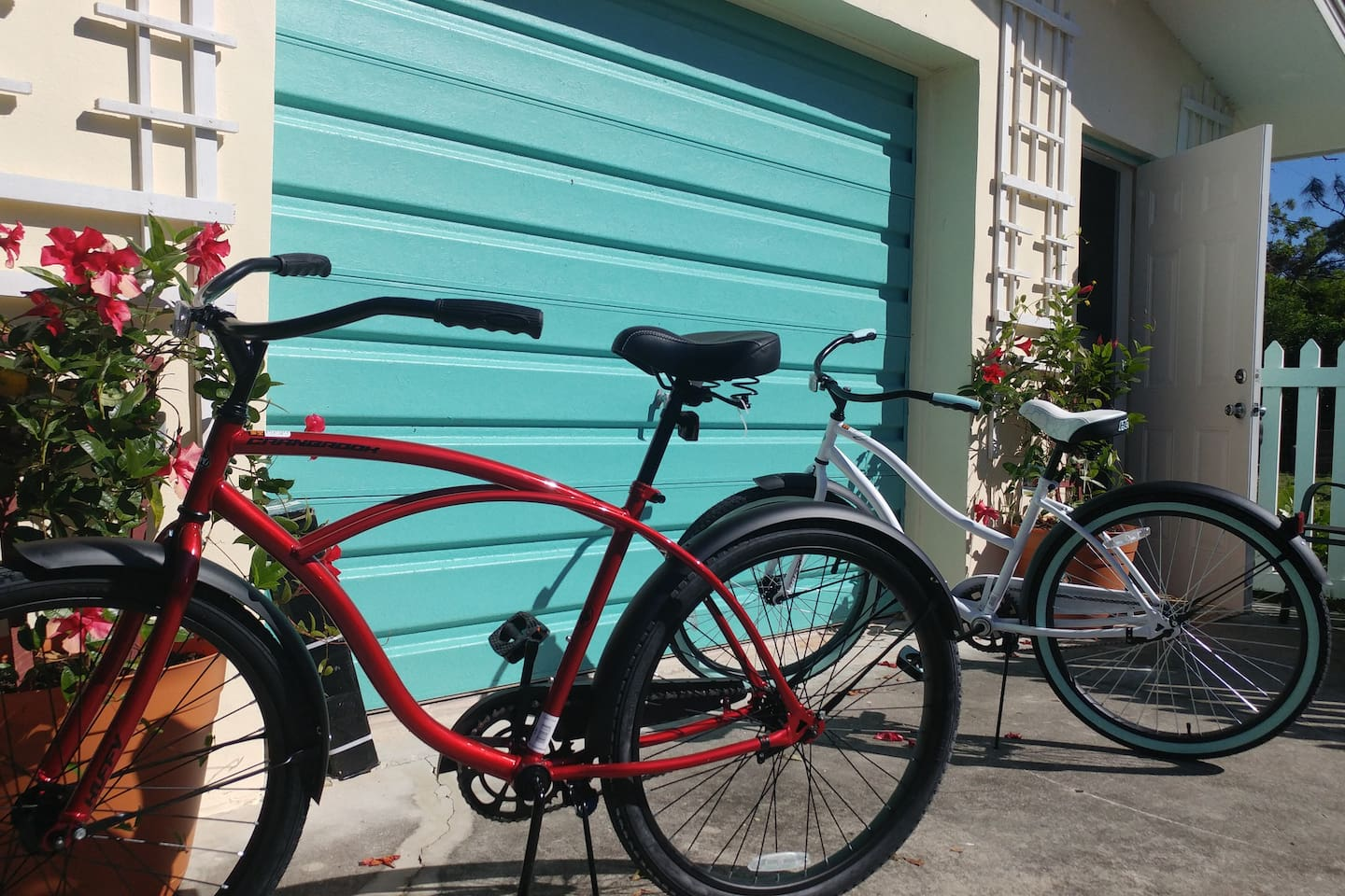 2 Beach cruisers for your stay and quick 10 minute ride to beach