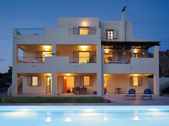 Luxury Villa Nikos with private Pool & Sea View - Lardos - Villa