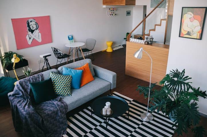 时光百货Room4[波普小姐]·特惠 brt沿线直达机场火车站波普风loft - Xiamen - Apartamento