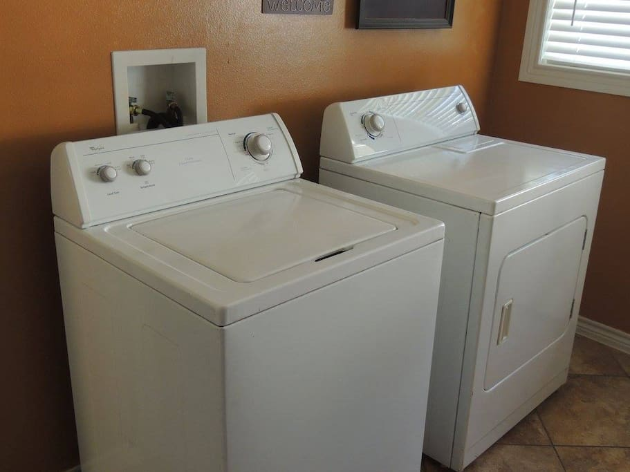 Washer and dryer available.