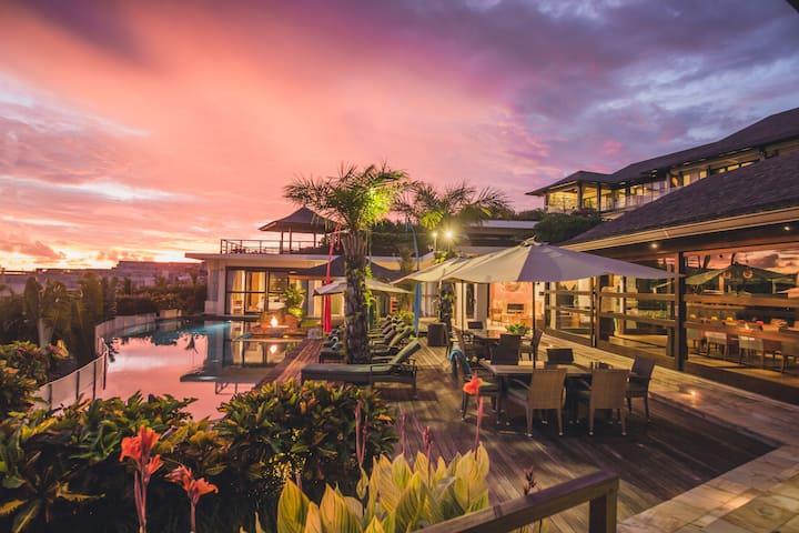 Promo 5BR Cliff & Ocean View Private Villa