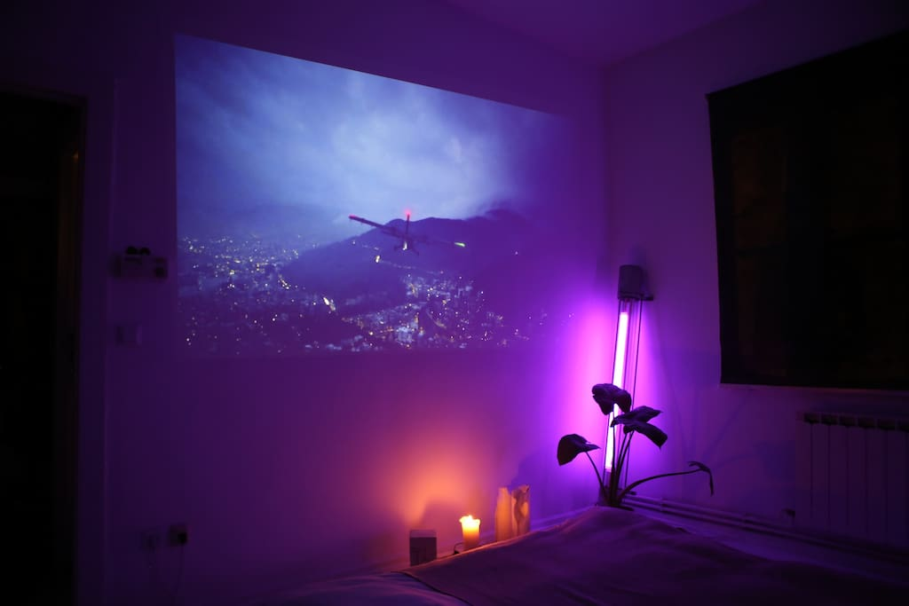 Bedroom with Projector