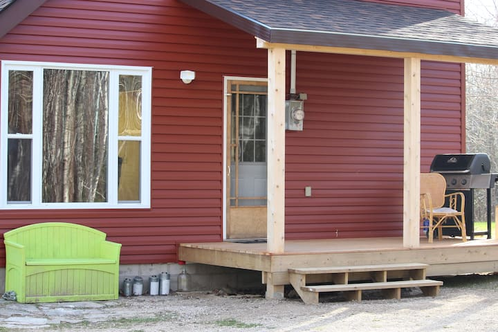 Front entrance and porch.