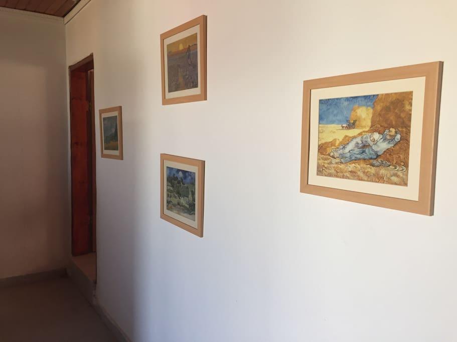 Copies of famous paints.