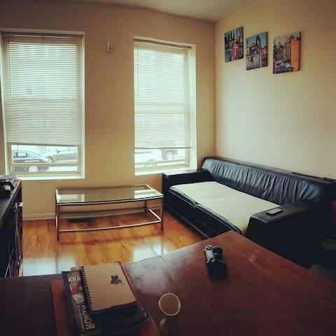 Sunny Logan Square Bedroom