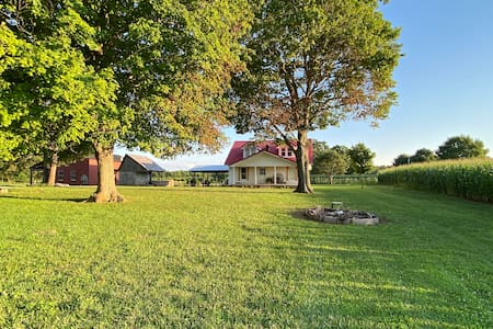 Amish Farm House in Peaceful Country Setting