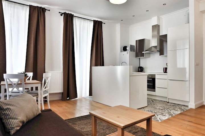 Cosy 1 Bedroom Flat, Blvd Anspach, 53 sqm. - Bruxelles - Apartamento