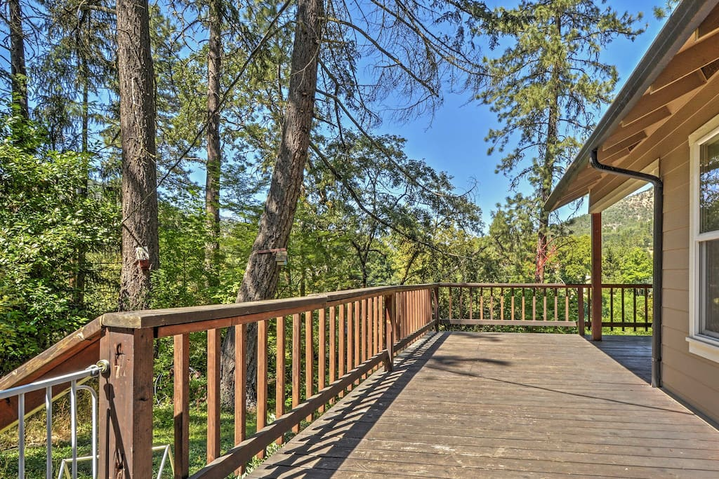 Enjoy the incredible views from the wraparound porch.
