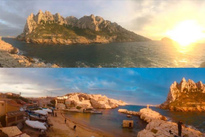 Presqu'ïle croisettes Mer & nature à l'état brute