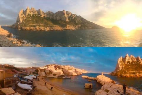 Villa presqu'île cap croisettes Mer&Nature brutes