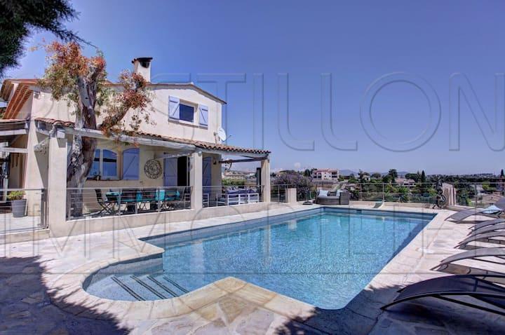 villa A & J-piscine chauffée
